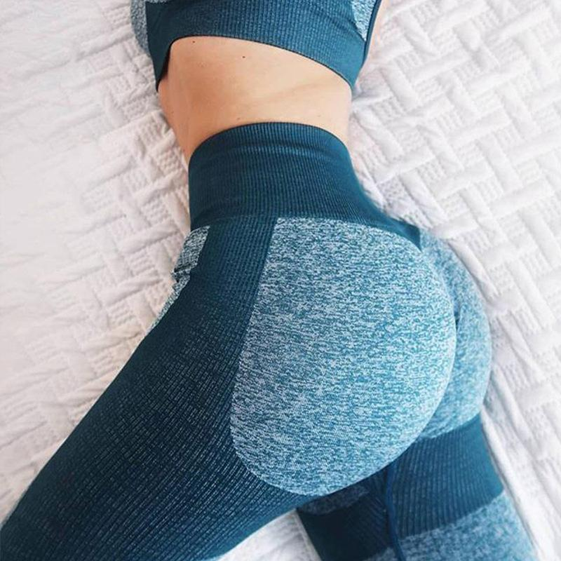e1dccfff1f 2019 2019 Women Sports Leggings Heart Shape High Waisted Splicing Yoga Pants  Hip Push Up Training Tights Gym Fitness Sportswear From Xiaobaigou, ...