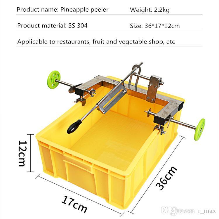 stokta manuel ananas göz sökücü V şekli araçları soyucu SS304 kolay kullanım ve temizleme ticari ananas soyma makinesi ananas