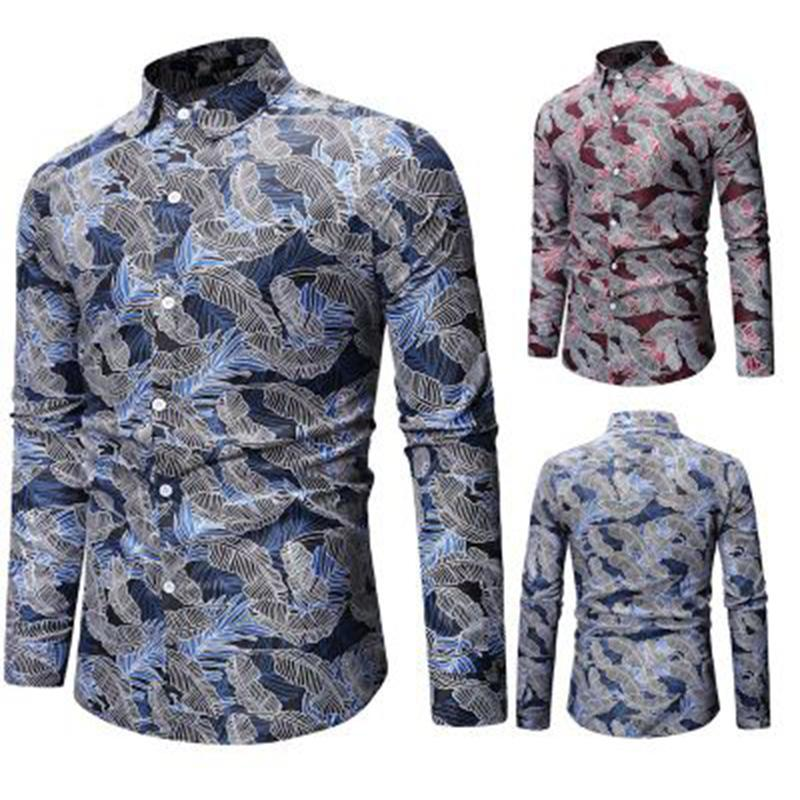 79822394ae Compre Audoc Mens Primavera E Verão Geométrica Irregular Moda Cor Blusa  Camisa Marca De Manga Longa Plus Size Camisas Dos Homens Casuais De  Just4urwear