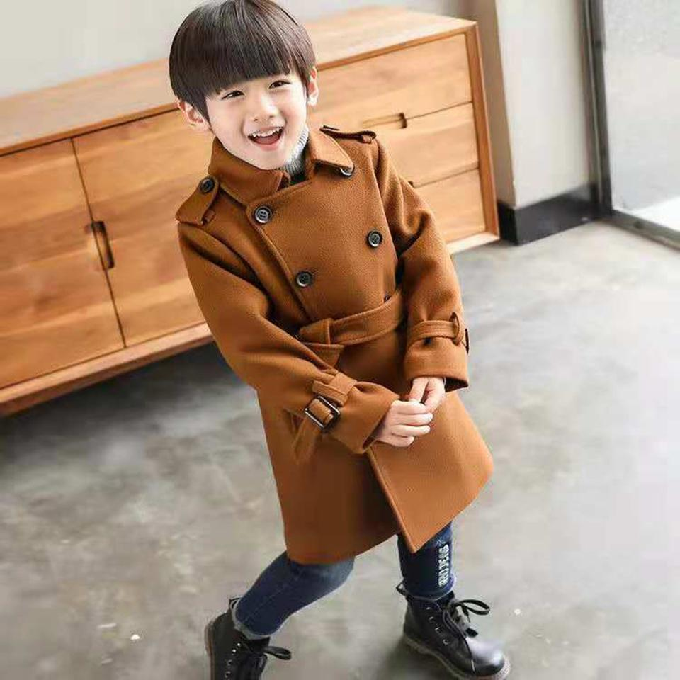 6148f620b556 Children s Jackets Coat Boys Autumn Winter Warm Woolen Coat Kids ...