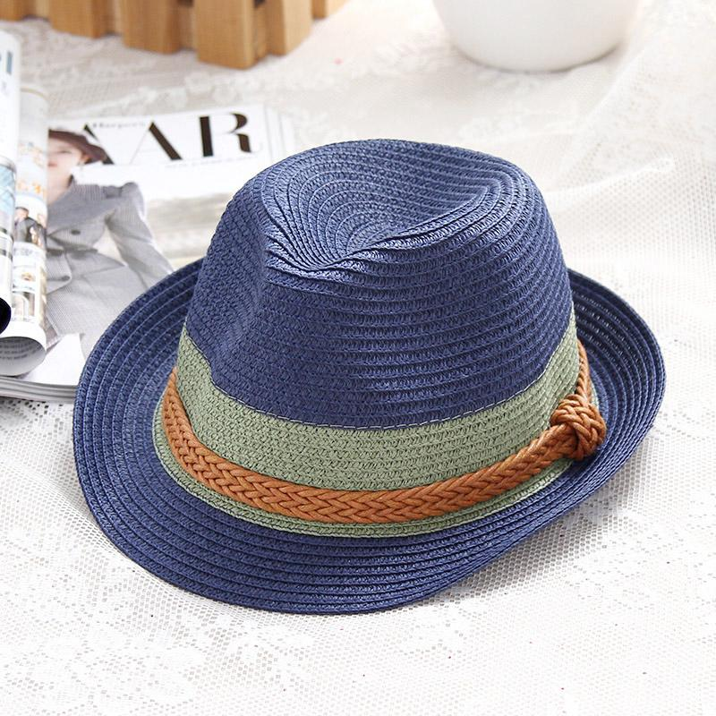 b038f89129a Summer Ladies Hat Casual Fashion Jazz Caps Color Trend Beach Vacation Sun Hats  Cool Breathable Sun Cap Fedora Hats For Men Cowgirl Hats From Udon