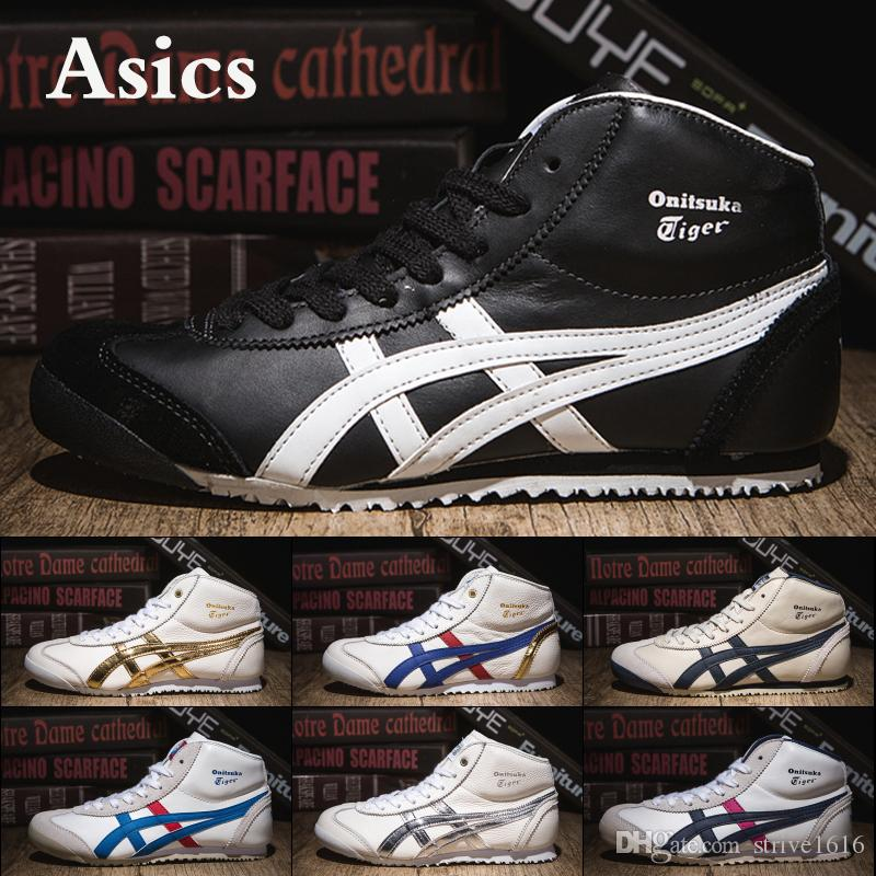 7ba4cb7d61615 Asics Onitsuka Tiger New High Running Shoes For Men Mujeres Black Stripe  White Blue Designer Zapatillas De Deporte Para Hombre US 5 10 Por  Strive1616