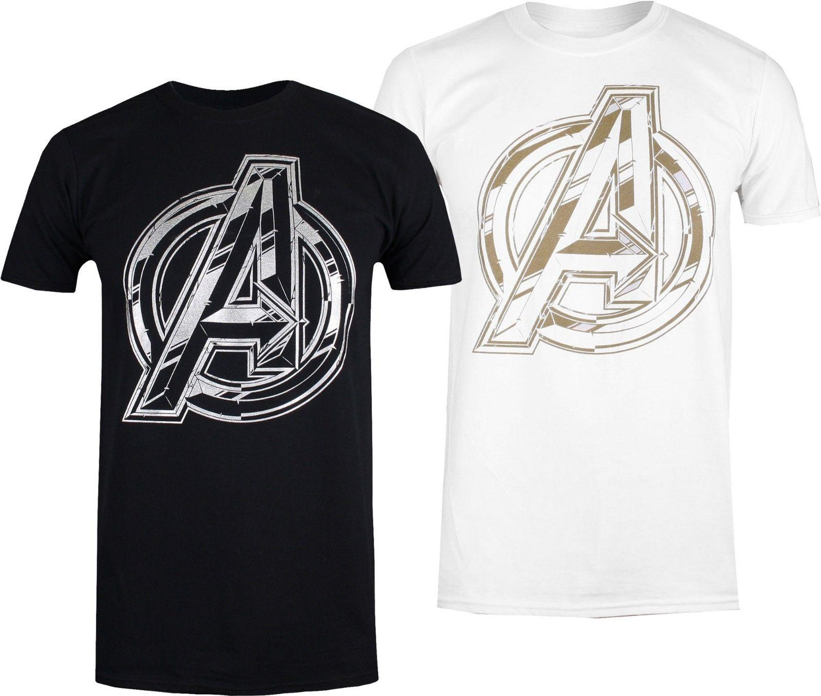 d48f4038631 Compre Logotipo De Marvel Avengers Infinity War Camiseta Para Hombre Negro  O Blanco Tallas S XXL Divertido Envío Gratis Camiseta Casual Unisex A  $12.96 Del ...