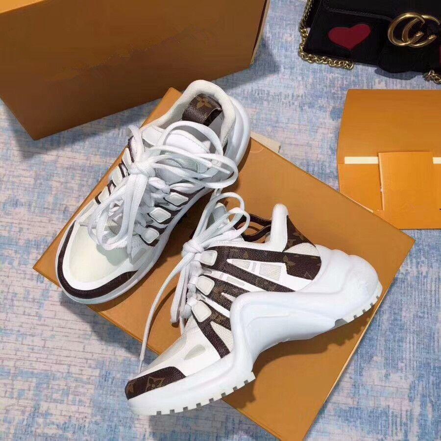 adaad4bbf22 Compre Arena Zapatillas De Deporte De Cuero Genuino Casual Mujer Hombre  Zapatos Hombre Kanye West Zapatillas Deportivas Blanco
