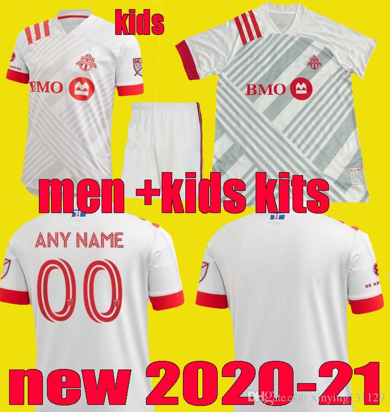 2020 nouveaux Toronto FC hommes Maillots de football enfants kits 20 21 Altidore POZUELO Football Shirt 2021 Toronto MORROW BRADLEY football chemises d'uniformes