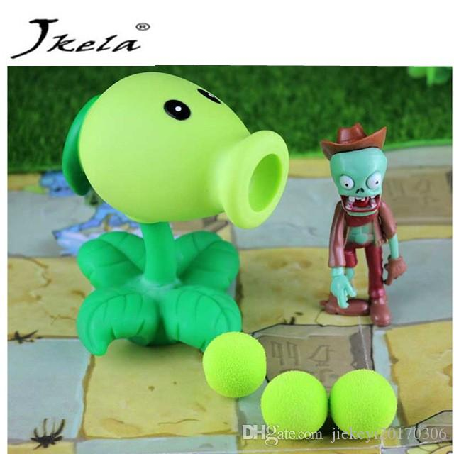 [New] PVZ Plants vs Zombies Peashooter PVC Action anime Figure Model Toy  Gifts Toys For Children High Quality launch plants