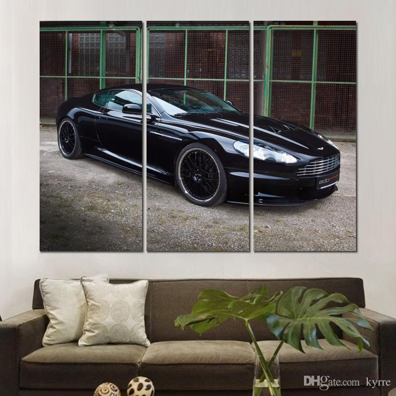 aston martin dbs black auto canvas print arts pictures for dining room decor