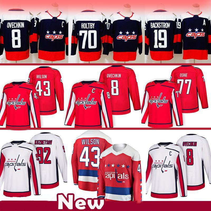 online store ab25e fc8ff 2018-19 Season Champions Hockey Jersey Washington Capitals 8 Alex Ovechkin  77 T.J. Oshie 19 Nicklas Jersey Hockey Jersey Top quality