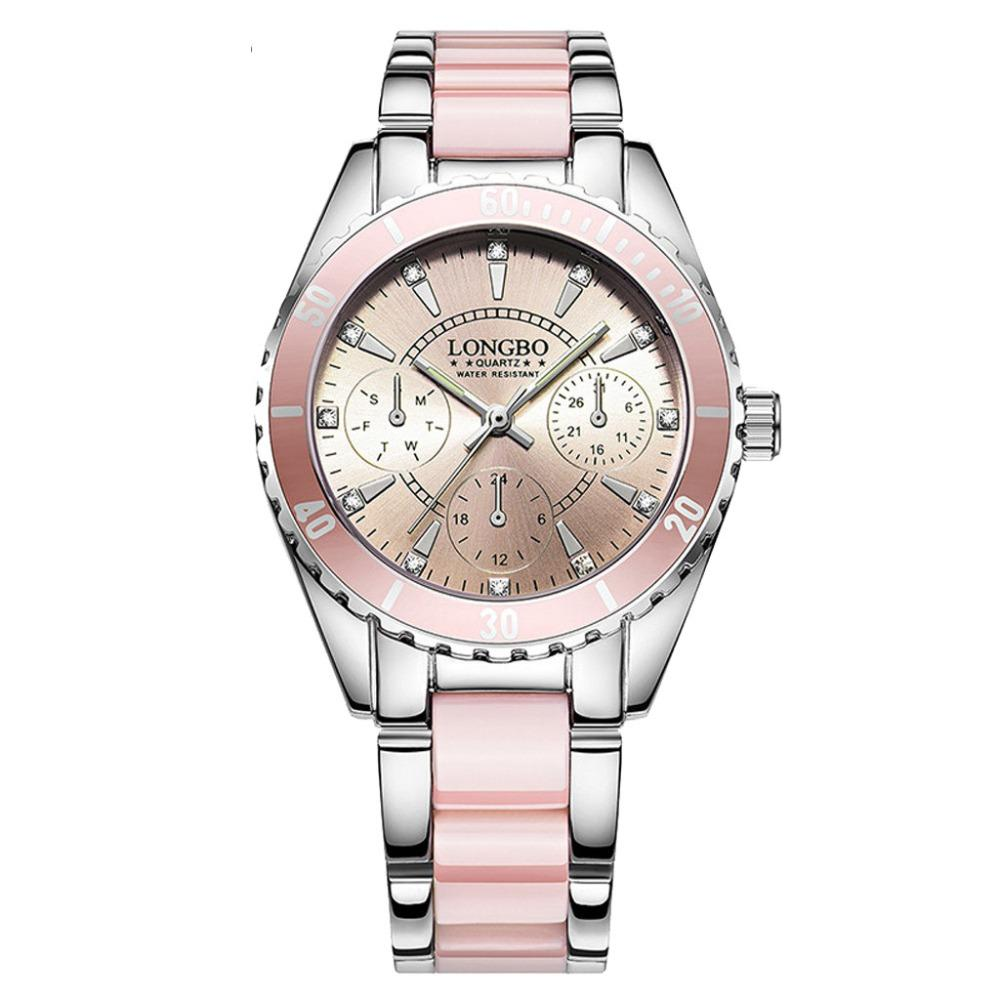 89d5f2e97382 Compre 2019 Marcas De Lujo Para Mujer Relojes De Cuarzo De Cerámica Y Banda  De Aleación Pulsera De Las Mujeres Reloj Redondo Dial Relojes De Las Mujeres  ...