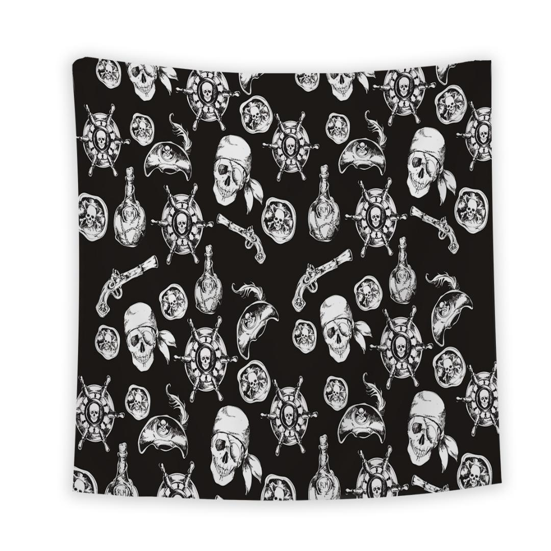 Classroom Decor Tapestry By Pirate Skull Black American Style