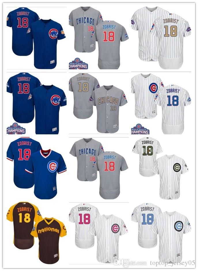 low priced dded6 48afd 2018 can Chicago Cubs Jerseys #18 Ben Zobrist Jerseys men#WOMEN#YOUTH#Men's  Baseball Jersey Majestic Stitched Professional sportswear