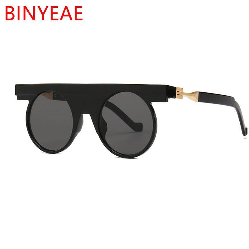 655928a35d Gothic Vintage Sunglasses Men S Classic Irregular Black Round Sunglasses  Women Luxury Brand Flat Top Protection Sun Glasses COOL Round Sunglasses  Cheap ...