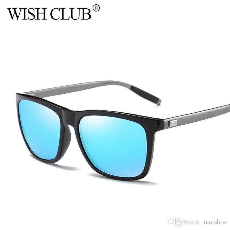 457123cca4 Compre CLUB DE DESEOS 2018 Gafas De Sol Cuadradas Hombres Gafas De Sol  Polarizadas Retro Gafas De Sol De Conducción Retro Gafas UV400 Gafas De Sol  A $41.39 ...