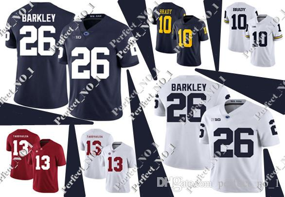 Men s NCAA Penn State Nittany Lions 26 Saquon Barkley Jersey College ... 651431727
