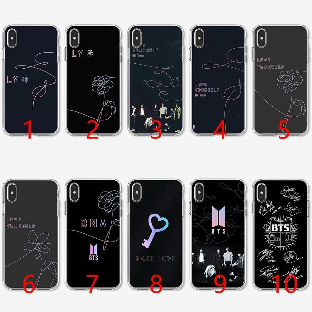 BTS Bangtan Boys Love Yourself Soft Silicone TPU Phone Case for iPhone 5 5S  SE 6 6S 7 8 Plus X XR XS Max Cover