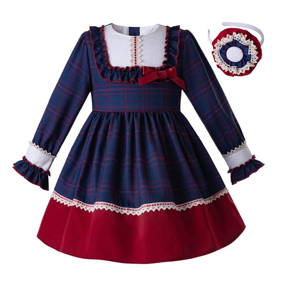 d8b5013e7 2019 Pettigirl 2019 New Dark Blue Party Kids Girls Dresses Elegant Princess  Dress With Back Big Bows Elegant Children Clothing G DMGD110 B431 From ...