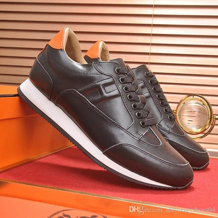 2b42a2a7754a Fashion Sneakers Luxury Male Loafers Footwears Autumn New Casual Shoes Mens  Leather Flats Lace-Up Shoes Simple Stylish Male Shoes Large Size