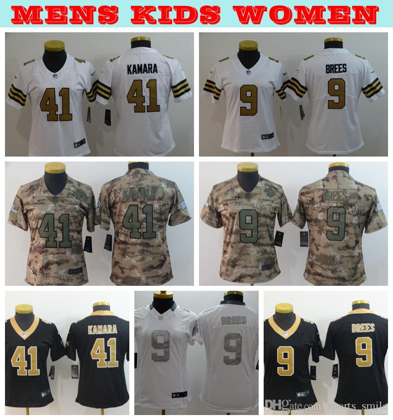 2019 Mens Kds Women New Orleans Saints Football Jerseys 41 Alvin Kamara 9  Drew Brees Jersey Stitched Embroidery Ladies Youth Saints Shirts Nice Shirts  ... 0394f4be4
