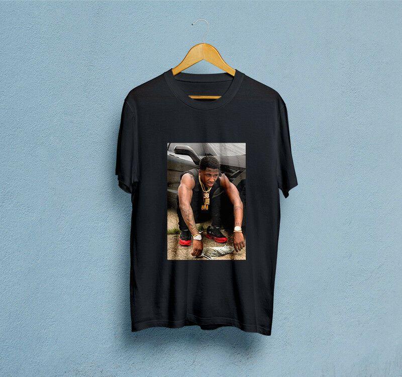 44a000bff1b3 Youngboy Never Broke Again Men's Black T-Shirt hoodie hip hop t-shirt