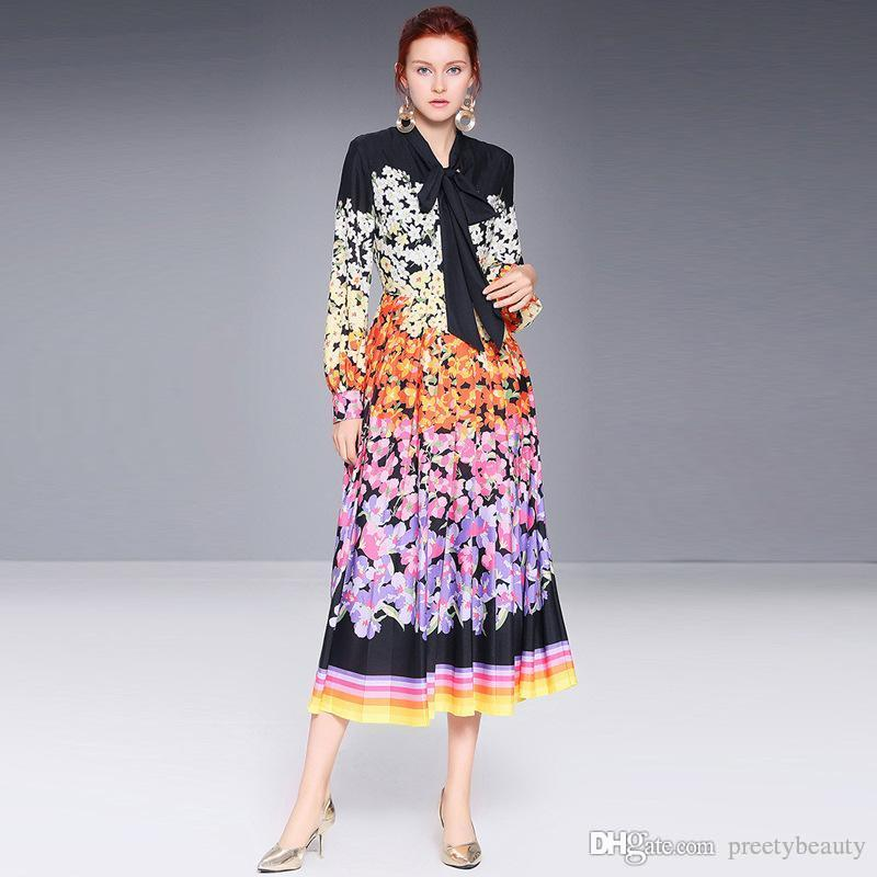 1eafc1a3090 Maxi Dress Women Long Sleeve Vintage Going Out Holiday Dresses Women Elegant  Slim Fit Long Sleeve Casual A Line Floral Dresses Red And Black Dresses For  ...