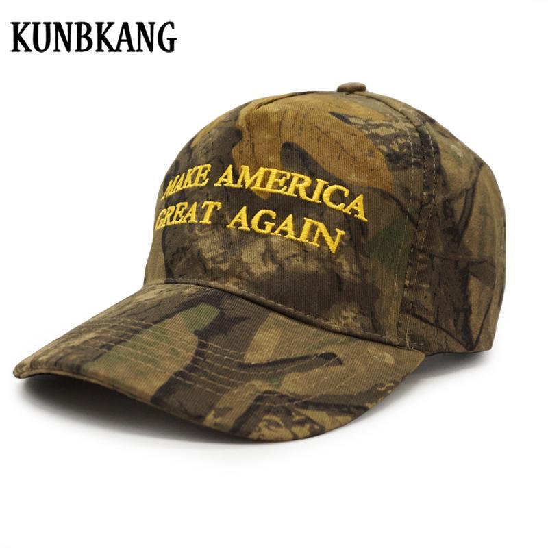 New Fashion MAGA Camouflage Baseball Cap For Men Embroidery Cotton Trump Snapback  Hat Make America Great Again Camo Snapback Cap Cool Caps Flat Brim Hats ... b70a59d08ff