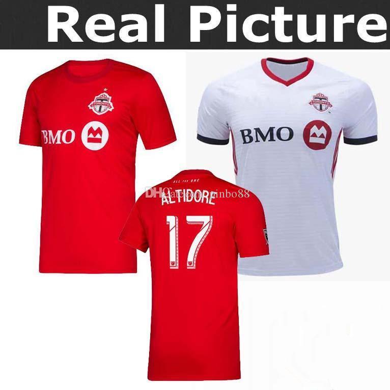730a978d6d5 2019 2020 Toronto FC En Casa Camiseta De Fútbol 20 19   10 GIOVINCO  Camiseta Roja De Fútbol Personalizada OSORIO AL TIDORE MLS Uniforme De  Fútbol Ventas Por ...