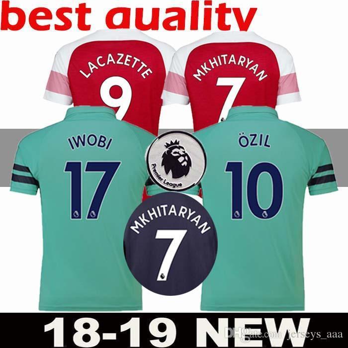 Camiseta De Fútbol De Arsenal De Tailandia 18 19 AUBAMEYANG LACAZETTE 2018  2019 Camiseta XHAKA OZIL Camiseta De Fútbol Uniforme De Maillot De Pie  Tercero ... f5753be068b9e