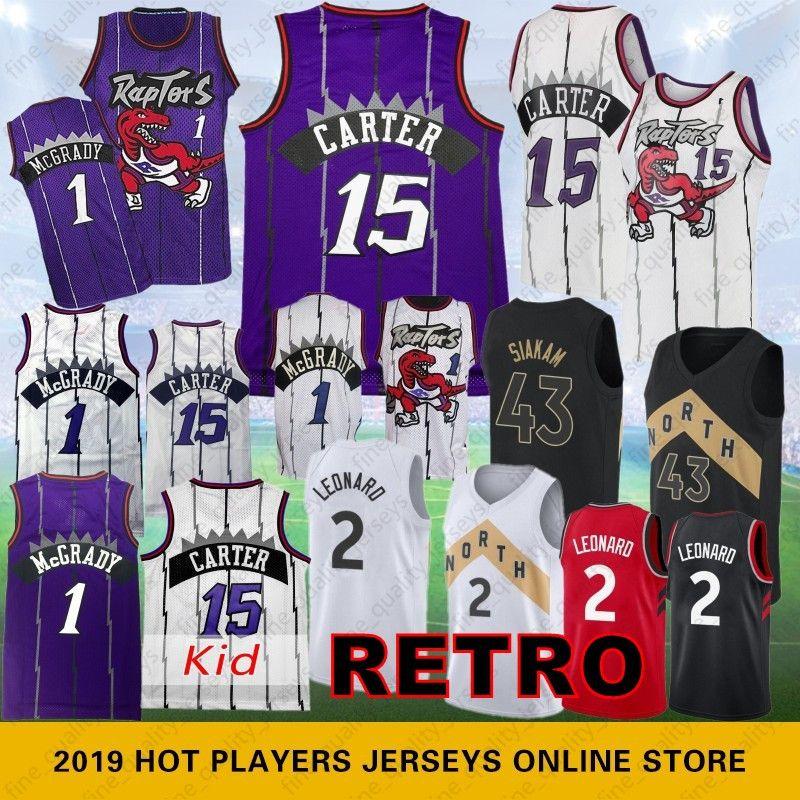 ebe35a8e2 2019 Vince 15 Carter Toronto Jersey Raptors   Kawhi 2 Leonard   Tracy 1  McGrady 43 Siakam Basketball Jerseys Mesh Retro From Fine quality jerseys
