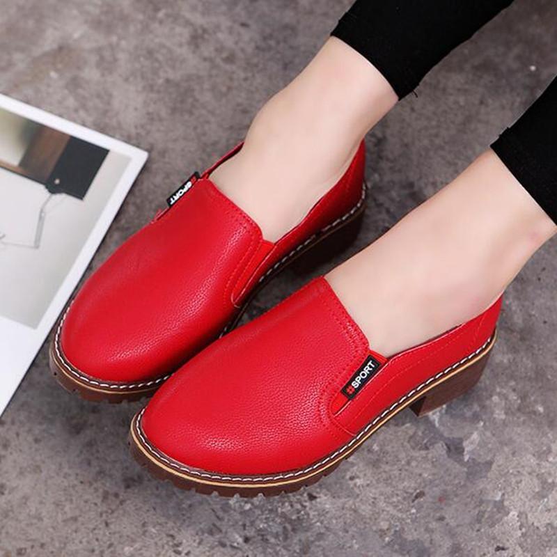 c7fbe41f0 Compre Sapatos De Vestido 2019 Novas Mulheres Salto Alto Plus Size Concisa  Grossa Bloco De Salto Mulheres Ankle Boots Femininos Elegantes Calçados  Casuais ...