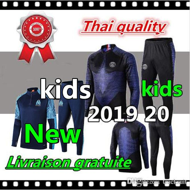 2019 2020 Psg kids tracksuit 19 20 Jordam psg soccer jogging kids jacket MBAPPE POGBA Survetement Paris air child football training suit
