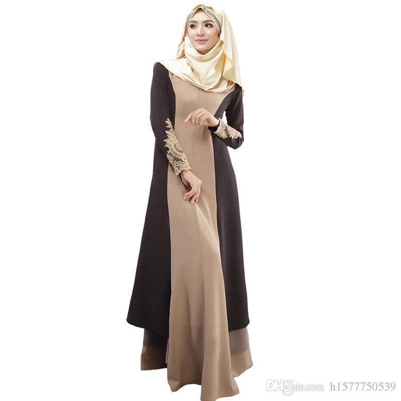 9c76fff57 Compre 10 UNIDS Abaya Turco Ropa De Mujer Vestido Musulmán Jilbabs Islámico  Y Abayas Musulmane Vestidos Longos Turquía Hijab Ropa Dubai Kaftan Giyim A  ...