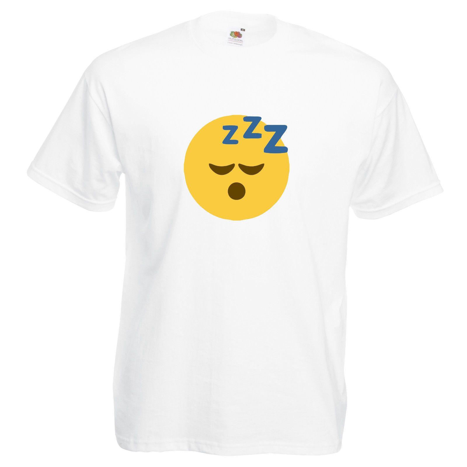 Emoji Sleepy T Shirt Funny Cute Unisex Viral Trend