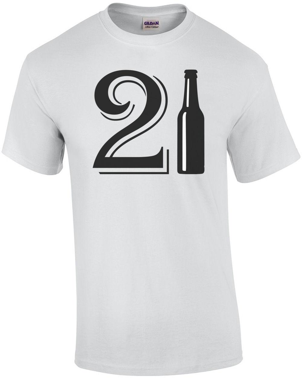 21 BIRTHDAY BEER BOTTLE HAPPY T SHIRT Funny Unisex Casual Top Shirts Online White Shirt From Paystoretees 1296