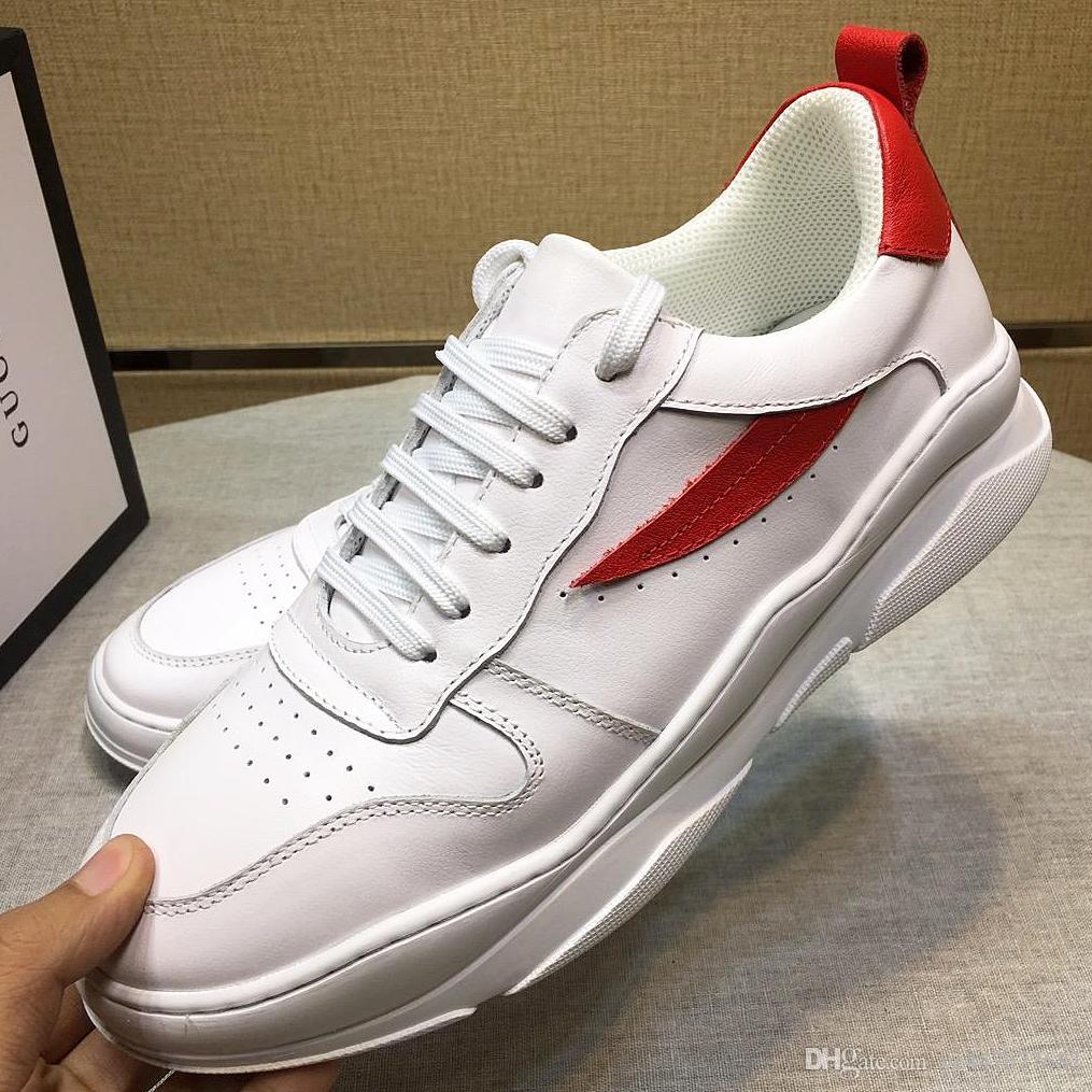7d1c77c2e06 Compre 2019 Nuevos Calzados Informales Para Hombre De Alta Calidad Calzados  Bajos Para Hombre Calzados De Cuero De La Moda Zapatos Deportivos Con  Embalaje ...