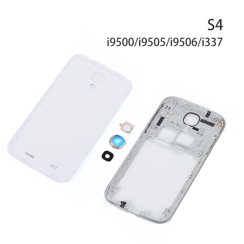1427aec25de Micro Usb Lightning 100% Original Para Samsung Galaxy S4 I9500 I9505  Cubierta De La Carcasa Trasera Caso Para Samsung S4 I337 Reemplazo De La  Tapa De La ...