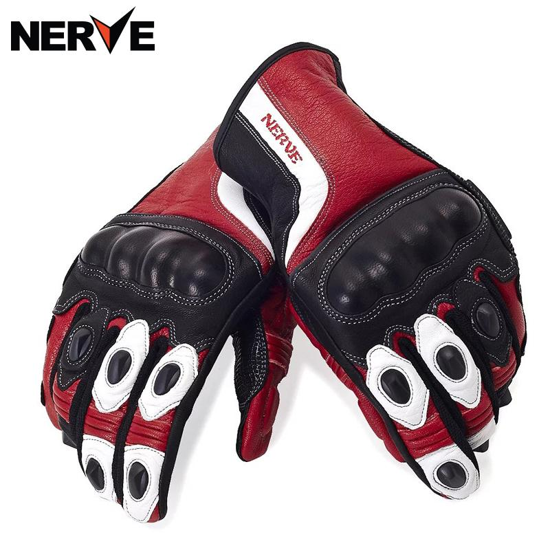 NERVE Motorcycle Gloves spring summer Waterproof Windproof Protective Gloves leather gloves, breathable Non-slip