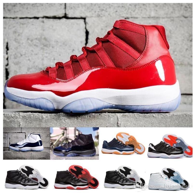 11s XI Platinum Tint Men Basketball Shoes Cap And Gown Prom Night Gym Red  Bred Barons Concord Cool Grey Mens Sports Sneakers Designer Running Shoes  Online ... d9e90218e932