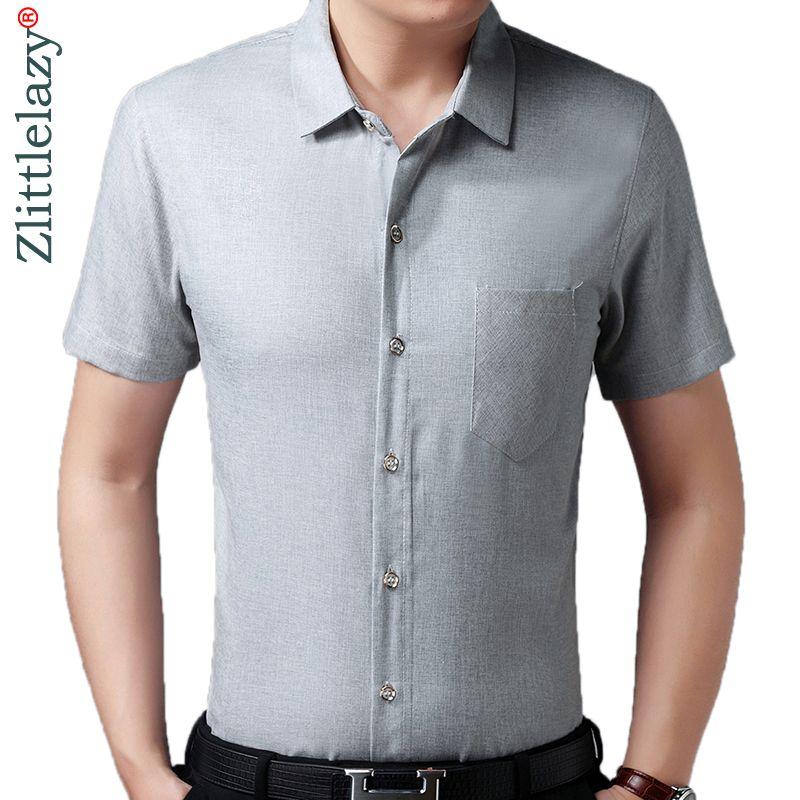 8b9cdaacc46e5 2019 2019 Brand Casual Luxury Pocket Plus Size Short Sleeve Slim Fit Men  Shirt Summer Social Dress Shirts Mens Fashions Jersey 41604 From  Smotthwatch, ...