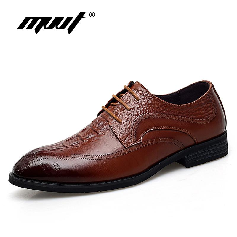 bf20b727cad6c Mvvt Genuine Leather Shoes Men Oxfords Crocodile Print Leather Dress Shoes  Men Formal Shoes British Fashion Men Flats Silver Heels Dress Shoes From ...