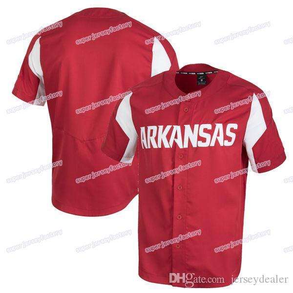 newest dca36 2a1a6 Mens Arkansas Razorbacks Baseball Jersey Maroon Stitch Sewn High Quality  Jerseys Cheap Size S-XXXL All Stitched