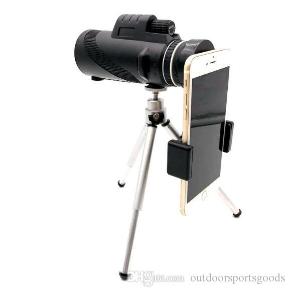 Outdoor hd 40X60 single telescope high power mobile phone camera telescope with tripod mobile phone clip set Necessary for survival