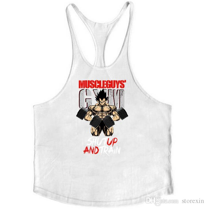 2019 Barnd Vest Fitness Sleeveless Shirt for Men Bodybuilding clothing dragon ball tank top men gyms Stringer tanktop undershirt