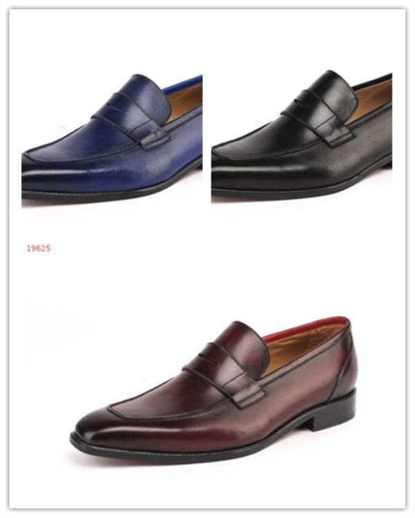 502f4fe4 Compre Nuevos Zapatos De Vestir De Cuero Para Hombres, Zapatos Oxford De  Negocios, Marca Original De Alta Calidad, Zapatos De Estilo Inglés Para  Hombres A ...