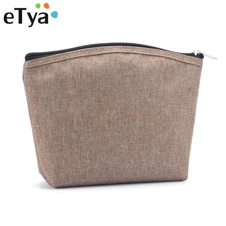 f5a84e963d ETya Women Cosmetic Bag Travel Portable Simple Men Makeup Bag ...