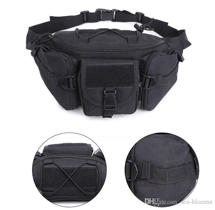 cfdc81e1af01 Men Outdoor Military Waist Bag Tactical Waist Pack Shoulder Bag  Multi-Pocket Molle Camping Hiking Belt Wallet Pouch Purse Free DHL M118F