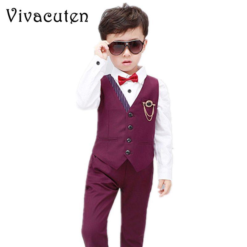 811af971860bf Boys Fashion Short Suits Vest Pants Set Kids Slim Fit 2pcs Suit Set For  Boys Formal Classic Costume Wedding Birthday Party