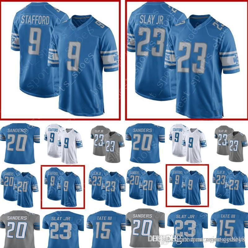 560daae4 Men Detroit Lions Jerseys #9 Matthew Stafford 23 Darius Slay 15 Golden Tate  III 20 Barry Sanders Football Jerseys Color Rush Limited