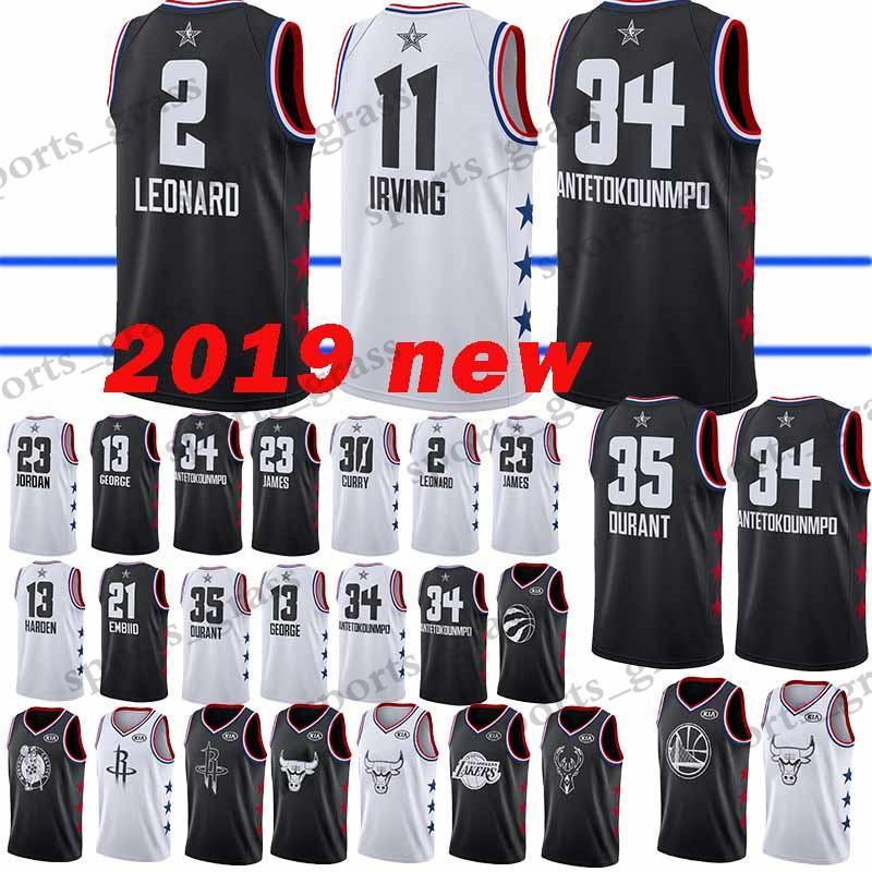 6342c07b6 All 2019 Star 23 LeBron James Jersey Giannis 34 Antetokounmpo Kawhi 2 Leonard  Dwyane 3 Wade Ben 25 Simmons Joel 21 Embiid 35 Durant 30 Curry UK 2019 From  ...