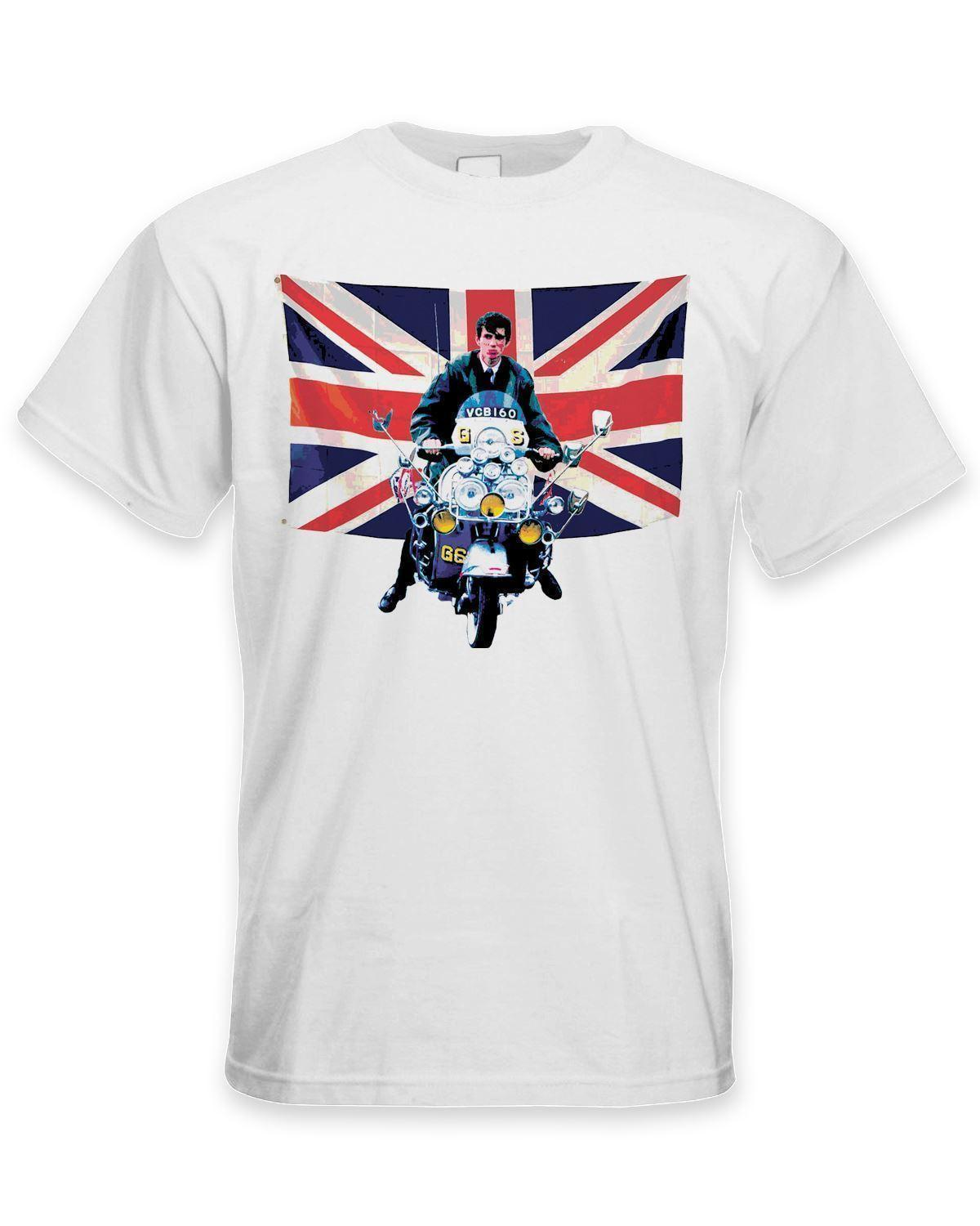 17fdc7f33d7936 Union Jack Scooter Mod Men S T Shirt Jam Fashion The Who Quadrophenia New  Metal Short Sleeve Casual Shirt Online T Shirt Shopping Print On T Shirt  From ...