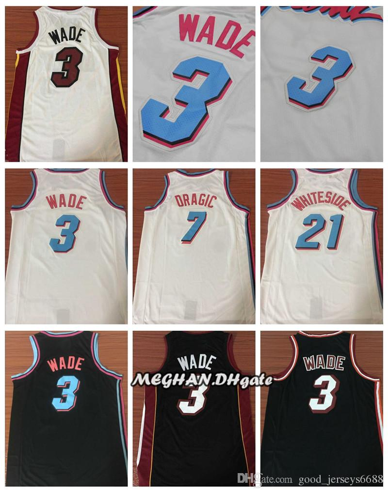 pretty nice b78de b98a2 Miami Heat CITY EDITION 2018 New Season Men Basketball Jersey 3 Dwyane Wade  7 Goran Dragic 21 Hassan Whiteside Shirts Wade Jerseys